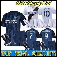 la galaxy shorts großhandel-Kit für Erwachsene # 9 IBRAHIMOVIC Fußball 2019 2020 LA Galaxy Herren-Ausrüstung für Heimtrikot 19 20 # 8 GERRARD BECKHAM Trikots + Shorts