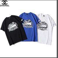 siyah beyaz karışık gömlekler toptan satış-Yüksek kaliteli yaz sokak giyim moda İtalyan köpük karışık baskı pürüzsüz ipek pamuk kısa kollu Tişört s-xxl siyah ve beyaz b