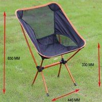 Wholesale chair lights resale online - Aluminum Alloy Folding Beach Chair Portable Fishing Chair Ultra Light Camping Leisure