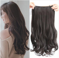 Wholesale extensions hairpieces clip human hair resale online - 5 clips on Curly Thick Hairpiece clip in Hair Extensions Heat Resistant Fiber Synthetic Hair Party Cosplay For Human