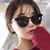Wholesale korean women sunglasses resale online - Retro Round Sunglasses Women Men Summer Glasses New Korean Personality Circle Sunglass Brand Design Punk Style Unisex QdOvS