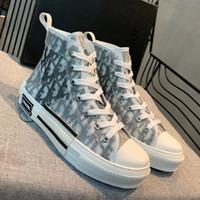 diseñadores de textiles al por mayor-Tattoo Sneaker Hombres High-top Zapatos casuales Textiles de color gris plateado con ante Calf-leather Trim High High Sneakers con tamaño de caja 35 46