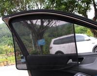 cubierta de tela de nylon al por mayor-Sombra de tela neta 65CM Ventana del coche Sombra de sol Tela de malla Visera parasol Cubierta Blindaje Negro Auto Sombrilla de cortina EEA145