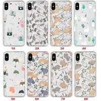 Wholesale cute rabbit case online – custom For iPhone X Xr Xs Max S Plus Cute Rabbit Cartoon Printed Pattern Soft TPU Case Phone Cover For Samsung S10 S10E S10 PLUS