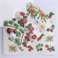 1 Sheet Summer Fruit Strawberry Cherry Cake Ice Cream Nail Art Water Transfer Sticker Decor Slider Decal Manicure