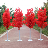 Wholesale led shop display resale online - New Arrival Cherry Blossoms Tree Road Leads Wedding Runner Aisle Column Shopping Malls Opened Door Decoration Stands