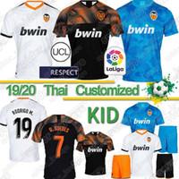 mens thai futbol formaları toptan satış-Tay 19 20 Valencia CF Futbol Forma RODRIGO 19 20 Parejo Kang İÇİNDE Erkek Üniformalar Çocuklar Kiti GAMEIRO Futbol Gömlek GAYA GUEDES C.SOLER Jersey