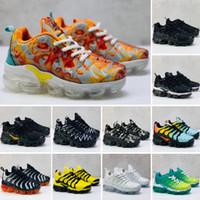 hava yastıklı koşu ayakkabıları toptan satış-Nike Air VaporMax Plus TN 2019 yürüyor çocuk tn Nefes 2.0 Gökkuşağı Mesh Koşu Sneakers tns Hava Yastığı çocuk dökün enfants Atletik spor Ayakkabı Artı eğitmenler