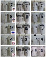 ingrosso baseball 15-Maglia da baseball vintage New York 1951 Golden 7 Mickey Mantle 8 Yogi Berra 3 Bambina Ruth 5 Joe DiMaggio 4 Lou Gehrig 15 Thurman Munson