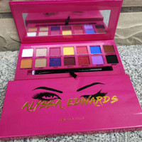 Wholesale sell eye shadow palettes resale online - 2019 Hot Selling Newest Eye Makeup Alyssa Edwards Rose Red Eye Shadow Palette Colors Matte Pressed Eyeshadow Palette With Makeup Brush