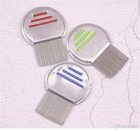 Wholesale garden tool kids for sale - Group buy New Garden Pet Stainless Steel Kids Hair Terminator Lice Comb Nit Free Rid Headlice Super Density Teeth Remove Nits Comb Styling Tools