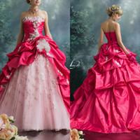 vestidos quinceañera color melon al por mayor-Stella De Libero Vestidos de quinceañera Sweetheart Flor hecha a mano Apliques con cordones Vestido de desfile de chicas de lujo Melón de agua Vestidos de fiesta formales