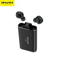 micrófono de auricular awei al por mayor-AWEI T85 TWS Auriculares inalámbricos Bluetooth 5.0 1800mAh Banco de energía Mini Bluetooth Auriculares con micrófono dual para teléfono
