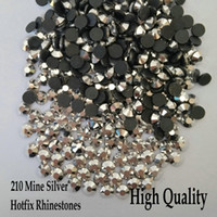 Super Shiny 210 Mine Silver Flatback Hotfix Rhinestones SS6-SS30 Different Sizes Iron On Hotfix Rhinestones