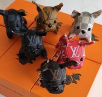 ingrosso ciondoli per borse da donna-2019 nuovo cane portachiavi borsa ciondolo borse cane design auto catene portachiavi per le donne regali donna acrilico tacco alto portachiavi senza scatola