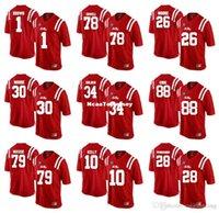 Wholesale cj jersey for sale - Group buy Custom Ole Miss Rebels Moore Massie Sowell Bolden Kelly CJ Moore Core Pennamon College Football Jerseys
