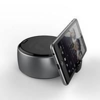 stereo steht großhandel-Drahtloser Bluetooth Lautsprecher Stereo Sound Super Bass Musik Player Handy Ständer Halter für PC iPhone 6 7 8 Plus X Samsung Galaxy
