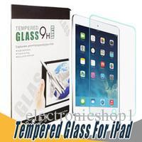 protector de vidrio para ipad air al por mayor-9H Tempered Glass Screen Protector Anti Shatter Film Protector de pantalla para iPad 5 6 Air Pro 2017 Mini 2 3 4