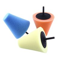 Wholesale soft foam sponge for sale - Group buy 2017 new Burnishing car Automotive Foam Sponge Polishing Cone Shaped Buffing Pads For Car Wheel Hub Care Metal Pad Soft Type