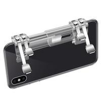 telefon için gamepad toptan satış-K9 PUBG Cep Ücretsiz Boyutlandırma Oyun Telefonu Gamepad Denetleyici Oyun Joystick Tetik Yangın Düğmesi Amaç Anahtar Shooter Oyunu 50 adet / l