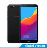 huawei honor dual sim оптовых-Глобальная версия Huawei Honor 7S Телефон Мобильный телефон Портативный 2 ГБ 16 ГБ Смартфон 4G 5,45