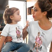 Wholesale clothing styles mom daughter for sale - Group buy Female T Shirt Family Matching Mom daughter Girls Clothes T shirt Tee Korean Fashion Harajuku Kawaii White Tshirt