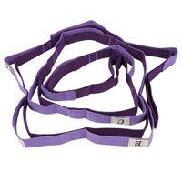 резисторные ремни оптовых-2.5m Adjustable Auxiliary Yoga Strap Flexible Stretch Yoga Belts Flexible Stretch Belt Tension Band Resistance Band