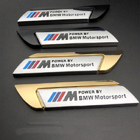 bmw motorsport achat en gros de-Bmw E60 E61 E90 E91 E92 F13 F16 F07 F10 F11 F20 F25 F26 F30 voiture Porte arrière Tail Trunk M Power Par Motorsport Emblem Sticker Decal