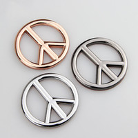 Wholesale volvo badge resale online - 3D Cool Metal Sticker Auto Logo Car Styling Stickers Badge Emblem Decal Antiwar Peace Auto Accessories for Mercedes Fiat Volvo Peugeot