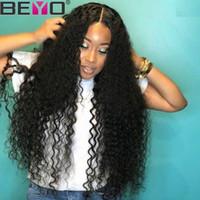hintli remily kıvırcık dantelli peruklar toptan satış-Derin Dalga Peruk 360 Tam Dantel İnsan Saç Peruk Siyah Kadınlar Için Ham Hint Derin Dalga Kıvırcık Bakire Saç Dantel Peruk Remy Beyo