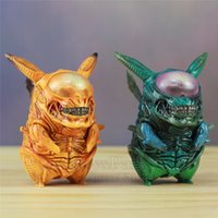 alienígenas vs figura depredadora al por mayor-¡GUAY! Alien Pikachu 8.5 cm PVC Figura Divertida Pikachu Mezcla Xenomorph Warrior Aliens VS Predator AVP Lindo Q JUEGO FREAK Doll Toys NUEVO Y190530
