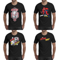 estudios rojos al por mayor-Impresión para hombre Ant Man logo Marvel movie red black t shirt Design Hip hop Champion Shirts Cartoon and the wasp comics man marvel studios