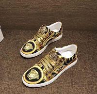 ingrosso zapatos hombre hip hop-Moda maschile di lusso punk hip-hop in pelle high-top scarpe casual scarpe basse da uomo vestito scarpe da sposa zapatos hombre 641