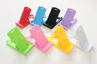 Wholesale cell phone accessories free shipping resale online - Cheap Cell Phone Mounts Holders Cell Phone Accessories Folding mobile phone holder double open bracket