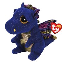 nuevos abucheos de beanie al por mayor-Ty Beanie Boos Saffire La Venta Blue Dragon felpa muñeca de juguete del envío del nuevo Arrvial caliente