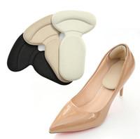 t gel großhandel-Dropshipping T-Form Fuß Fersenpolster Anti Rutsch Kissen Fuß Fersenschutz Liner Silikon Gel High Heel Einlegesohle für Fußpflege Werkzeug.
