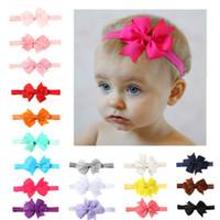 schmetterlingsseil großhandel-Kinder Baby Mädchen Candy Farbe Bogen haarband Schmetterling Band baby Haar seil 18 Farben Mode Haarschmuck großhandel