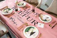 padrão de cobertura de mesa venda por atacado-NOVA arrivs cozinha toalha de mesa padrão famoso decoração tampa de tabela Pano de piquenique 4 tamanho 9 cores diferentes misto de fiação (Anita)