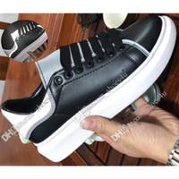 baskets plates noires en toile achat en gros de-Noir Blanc Plateforme Classique Chaussures Décontractées Sports Casual Chaussures De Skateboard Homme Femmes Baskets Velours Talon Robe Chaussure Sports Tennis