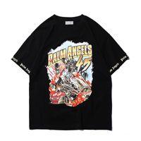 Wholesale 5xl hip hop shirts online – design 2019 New Fashion Palm Angels d print T Shirts Men Women Hip Hop Casual Palm Angels Streetwear D Printing Painting Palm Angels Tshirt U1758