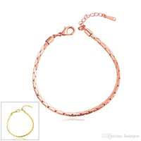 Lisse 24k Or Jaune Massif Femmes Bracelet Dia60mm