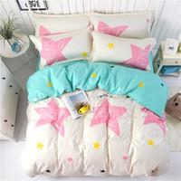Wholesale orange bedding sets queen resale online - Bedding set Skin friendly cotton set Twin Full Queen King size Reactive Printing duvet cover set Children s bed