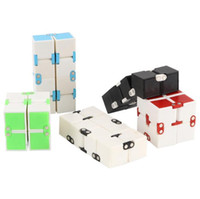 Wholesale block cube resale online - 5 Colors Infinity Cube Toys Kids Magic Cube Blocks Adults Finger Anxiety Toy Stress Relief Decompression Toys Novelty Items CCA11443