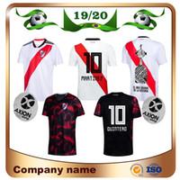 uniformes de fútbol de ventas al por mayor-2020 River Plate en casa blanco Fútbol Jersey River Plate lejos negro G.MARTINEZ QUINTERO PRATTOSoccer Camiseta 19/20 uniforme de fútbol del lecho del río Oferta