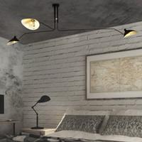 suspensão do teto da lâmpada led venda por atacado-Modern DaWn Aranha Serge Mouille Luzes de Teto para Sala de estar Quarto Lâmpada Pendurada Luminária Luminárias Para Casa Art Deco