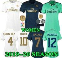 реал третьего джерси роналду оптовых-ОПАСНОСТЬ 19 20 Женщины Реал Мадрид Домашний футбол Джерси 2019 2020 леди RONALDO ASENSIO BALE RAMOS ISCO MODRIC В гостях третья женская футболка