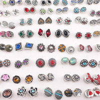 Fashion Rhinestone Metal 12mm Snaps Buttoon Charm For Ginger snaps Jewelry Earring Pendant Send As Pairs