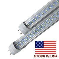ingrosso tubi fluorescenti a led caldo bianco-Stock negli Stati Uniti + 4ft condotto tubo 22W 28W bianco caldo freddo 1200mm 4ft SMD2835 96pcs / 192pcs lampadine fluorescenti a led super luminose AC85-265V UL
