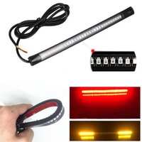 Wholesale led strip lighting for motorcycles for sale - Group buy Motorcycle Light Bar Strip LEDs Stop Lamp Auto Turn Signal Universal Flexible Brake Tail Stop Lights for Lada Car Moto
