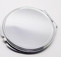 miroirs de poche vierges achat en gros de-Hot Mirror Pocket Pocket Mirror Blank Mirror Silver Mirror maquillage Livraison gratuite 100pcs / lot